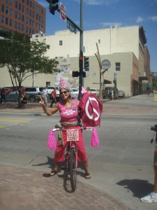 Pink Cyclist