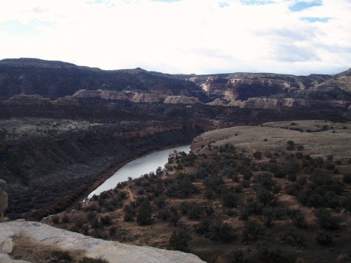 Overlooking the Colorado River from Mary's Loop in Fruita