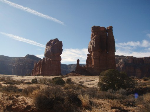 Determination Towers, surrounded by ridable sandstone