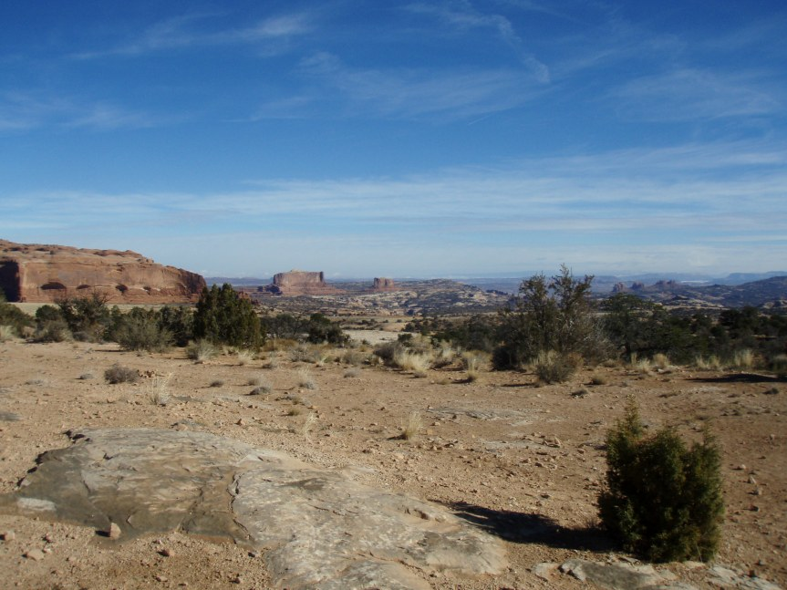 The promised buttes, off in the distance
