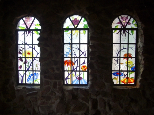 Beautiful stained glass inside the Castle