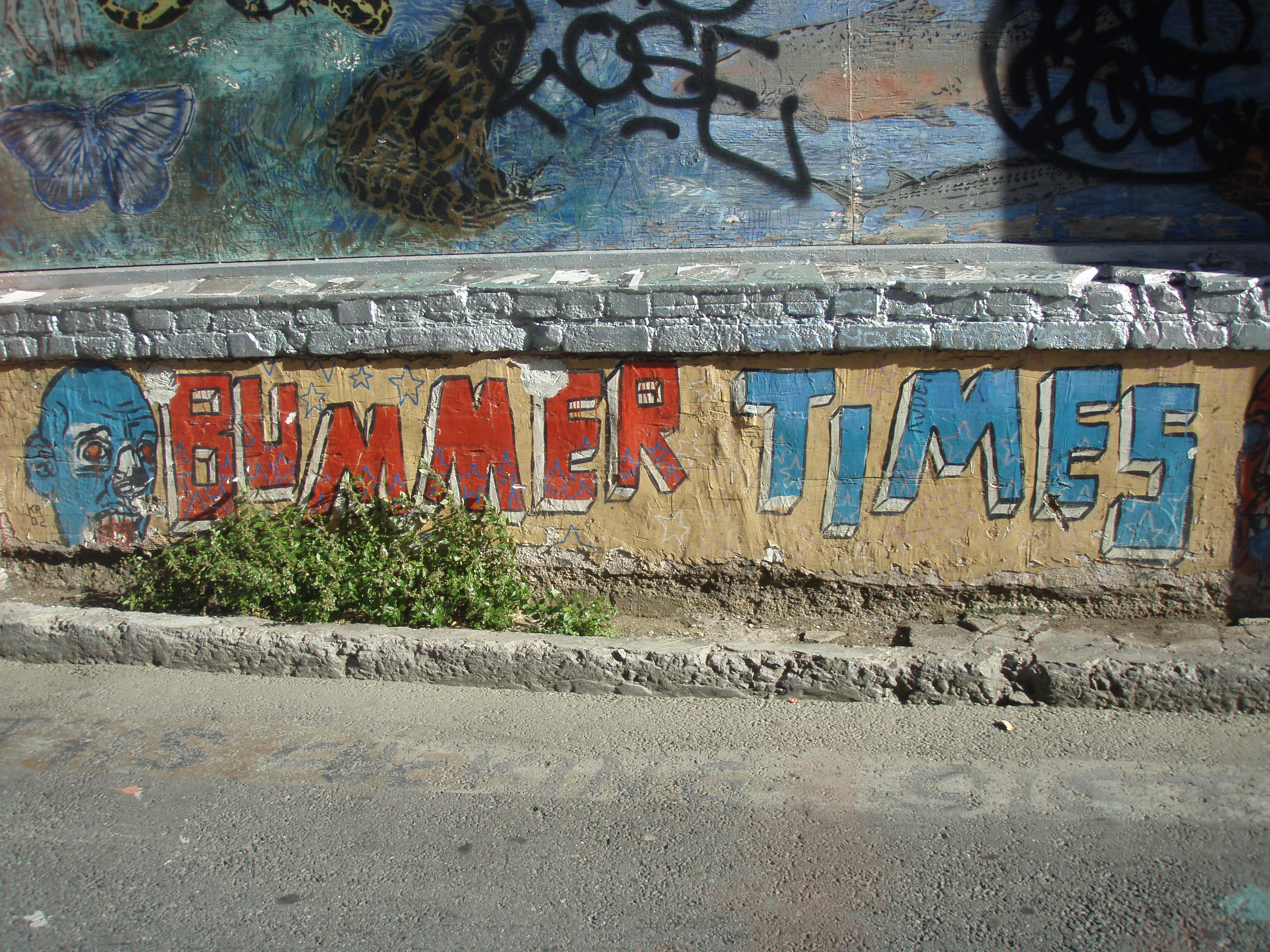 Graffiti over art?