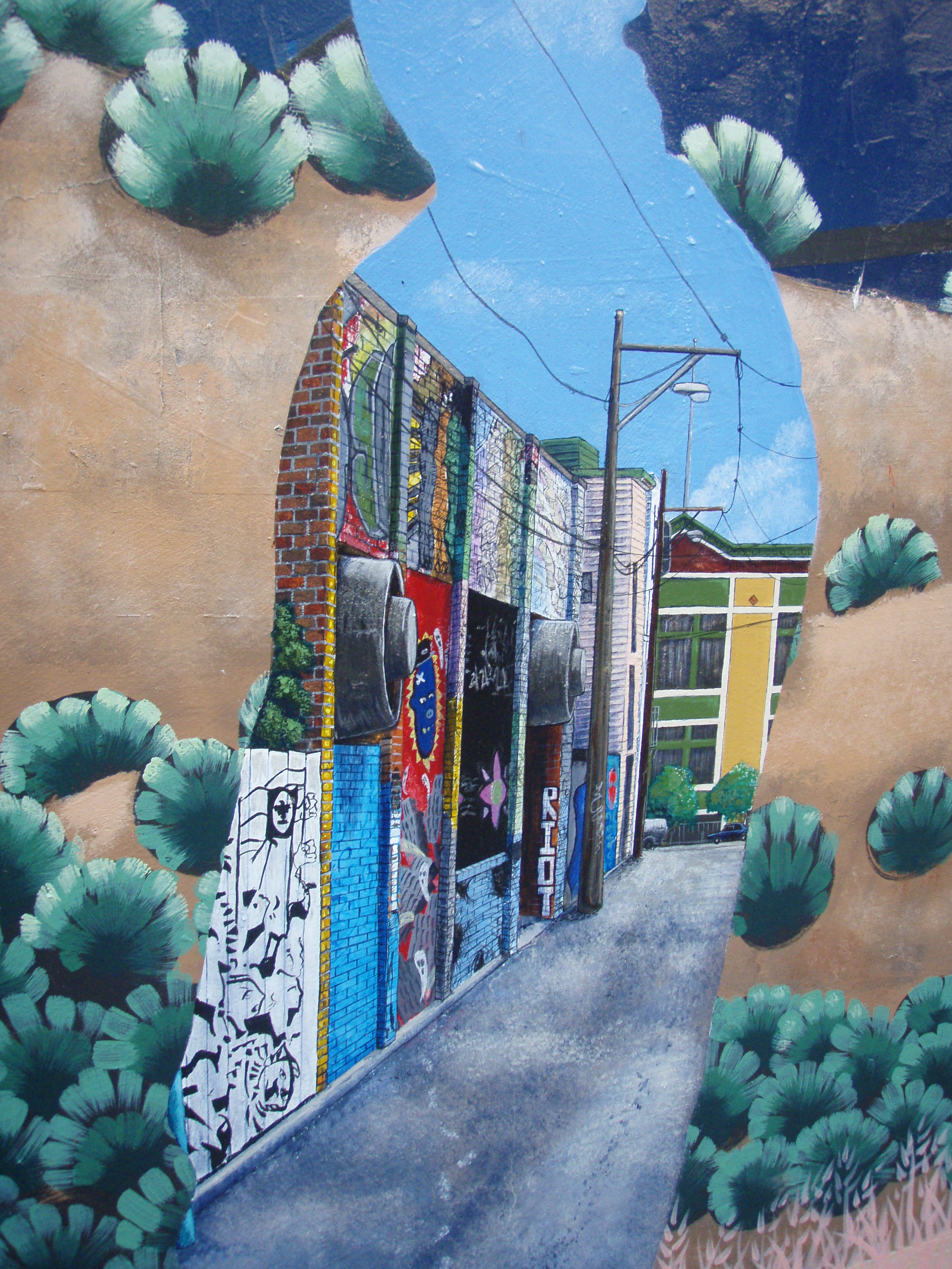 Surrealism, up closer--a mural within a mural