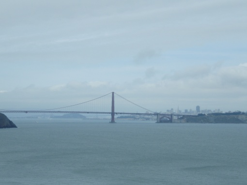 Looking back at the Golden Gate Bridge