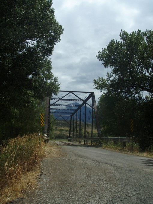The black bridge next to the Black Bridge Winery