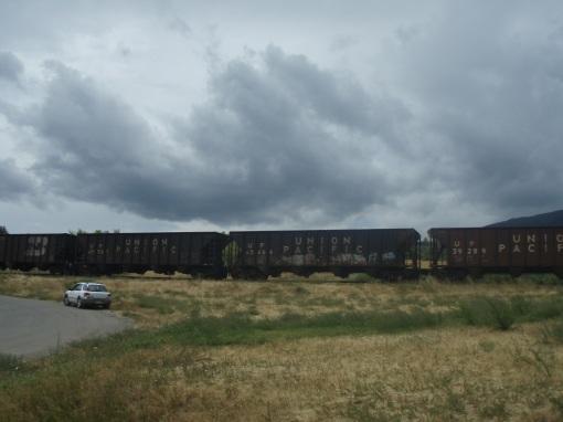 More Paonia graffiti. I hope the trains run on time...