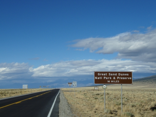 The road in from the south, near Alamosa